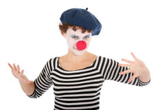 Young Woman Wearing Clown Face Stock Image