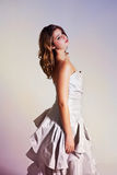 Young Woman Wearing an Evening Gown Royalty Free Stock Images