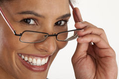 Young Woman Wearing Glasses Stock Image