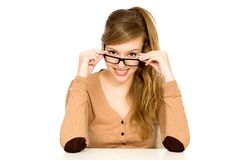 Young woman wearing glasses Royalty Free Stock Image