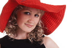 Young woman wearing hat Stock Image