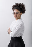 Young woman. Wearing informal clothes Royalty Free Stock Images