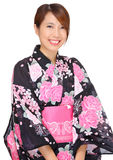 Young woman wearing Japanese kimono Royalty Free Stock Images