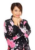 Young woman wearing Japanese kimono Stock Photos