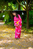 young woman wearing japanese traditional Yukata Royalty Free Stock Images