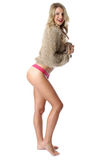Young Woman Wearing a Jumper and Panties Royalty Free Stock Photography