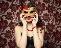 young woman wearing mask Royalty Free Stock Photos