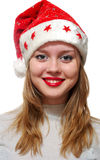 Young woman wearing santa claus Royalty Free Stock Images