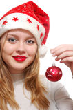 Young woman wearing santa claus Royalty Free Stock Image
