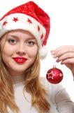 Young woman wearing santa claus Royalty Free Stock Image