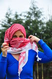 young woman wearing scarf  Royalty Free Stock Photo
