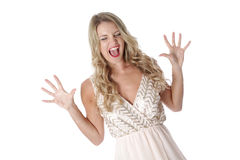 Young Woman Wearing Sheer Flimsy Dress Stock Photography