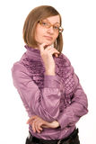 Young woman wearing spectacles Stock Images