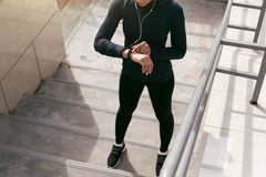 Young woman wearing sports clothing Stock Image