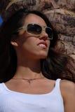 Young woman wearing sunglasses Stock Photo