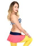 Young Woman Wearing Vintage Bikini Stock Image