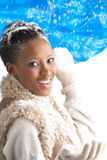 Young Woman Wearing Warm Winter Clothes Royalty Free Stock Photos