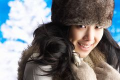 Young Woman Wearing Warm Winter Clothes Stock Image