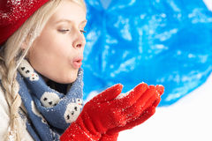 Young Woman Wearing Winter Clothes In Royalty Free Stock Photos