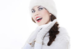 Young woman wearing winter clothing Royalty Free Stock Images