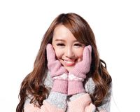Young woman wearing winter clothing Stock Photo