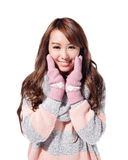 Young woman wearing winter clothing Royalty Free Stock Photo