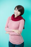 Young woman wearing winter clothing Royalty Free Stock Photography