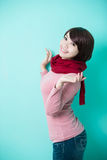 Young woman wearing winter clothing Royalty Free Stock Photos