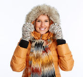 Young woman wearing winter coat. Royalty Free Stock Photo