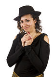 Young Woman Wears a Hat Royalty Free Stock Photography