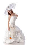 Young woman in a wedding dress Royalty Free Stock Image
