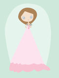 Young woman in a wedding dress Royalty Free Stock Photos