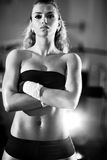 Young woman after weight training Royalty Free Stock Photos