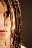 Young woman with wet hair Stock Photo