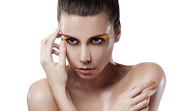 Young woman with wet skin Stock Photo