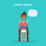 Young Woman On Wheel Chair Happy African American Female Disabled Smiling Sit On Wheelchair Disability Concept Royalty Free Stock Images