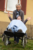 Young woman in a wheelchair Stock Photo
