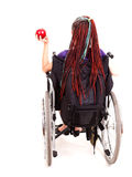 Young woman on wheelchair Stock Photos