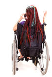 Young woman on wheelchair Stock Images