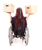 Young woman on wheelchair Royalty Free Stock Photography
