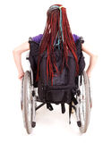 Young woman on wheelchair Royalty Free Stock Photos