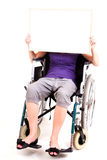 Young woman on wheelchair Stock Image