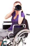 Young woman on wheelchair Royalty Free Stock Photo