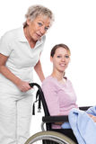 Young woman in wheelchair Royalty Free Stock Photos