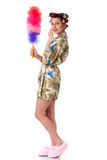 Young woman with whisk. Stock Photos