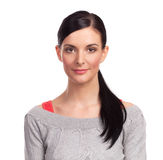 Young woman on white background Stock Photos