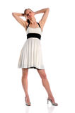 Young Woman in White Dress Royalty Free Stock Image