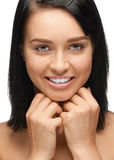 Young woman with white teeth Stock Photo