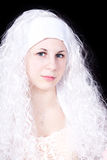 Young woman in a white wig Royalty Free Stock Photos
