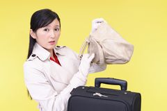 Woman who forgot something. Young woman who forgot something Stock Image